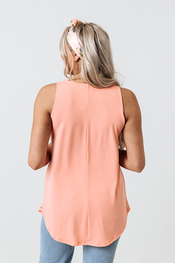 Meet Me At The Sandbar Shift Tank In Light Coral