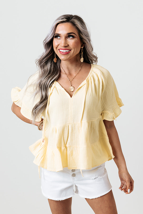 Loving You Well Shift Top In Yellow