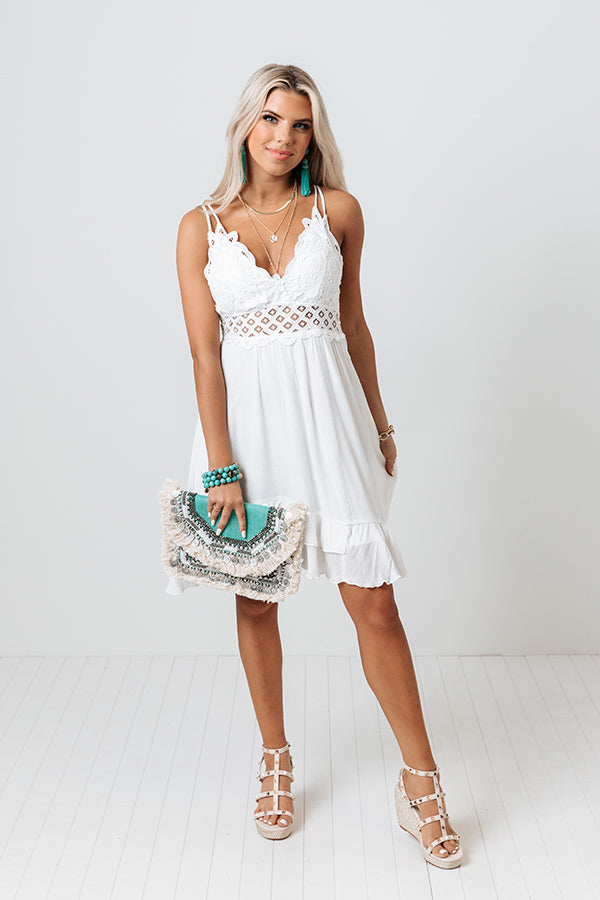 Refined Beauty Lace Dress In White