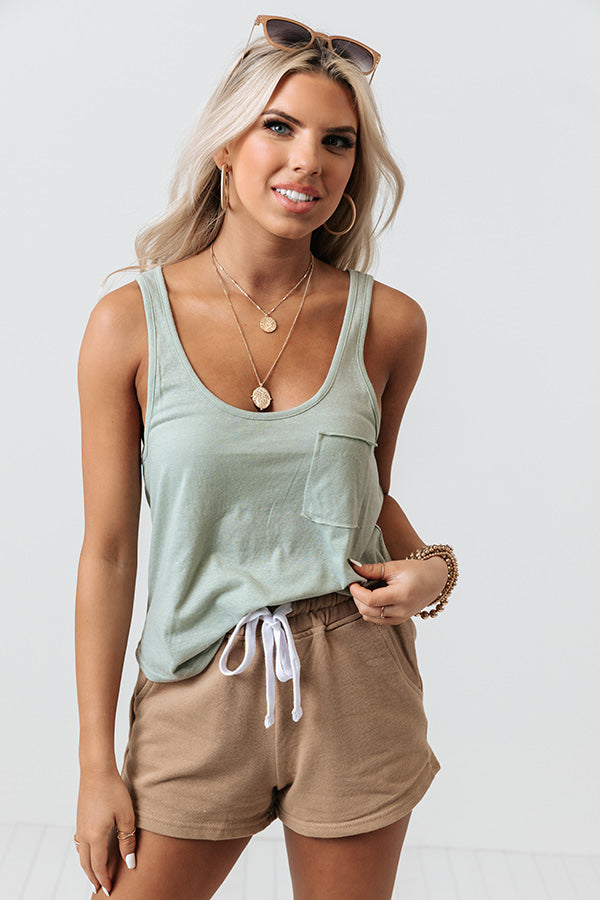Cali Bound Shift Tank In Pear