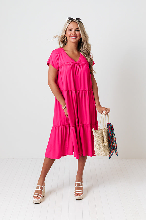 Serendipity Calling Midi In Hot Pink