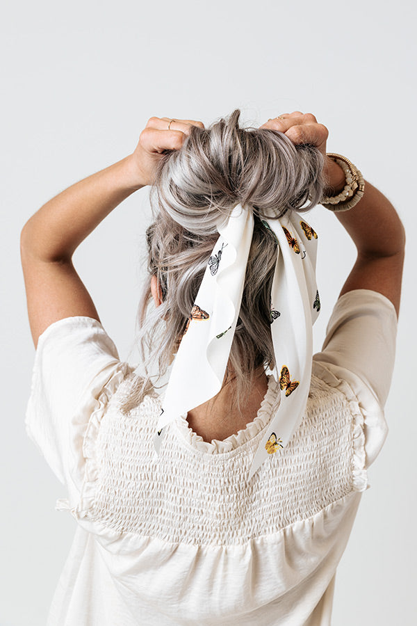 Sandy In Seychelles Scrunchie In Ivory