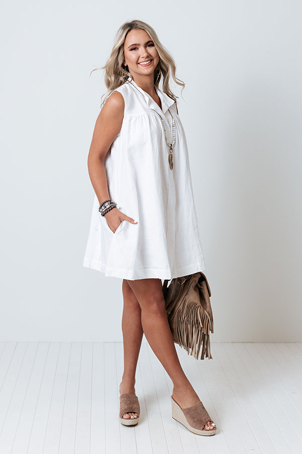 Windsor Castle Shift Dress In White