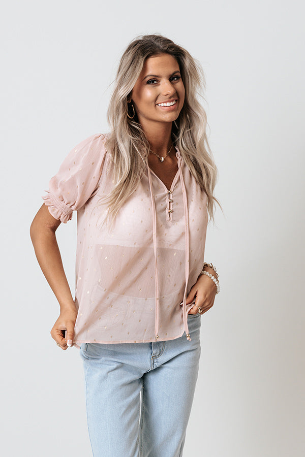 One To Remember Shift Top In Blush