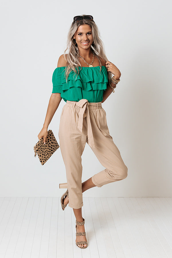 Happy Hour Splash Shift Top In Emerald
