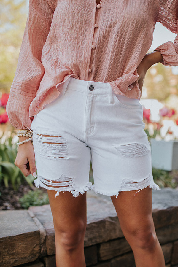 The Wilson High Waist Distressed Shorts