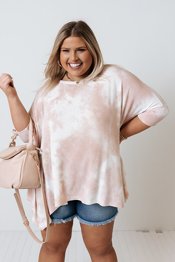 Belize Babe Tie Dye Shift Tunic In Blush