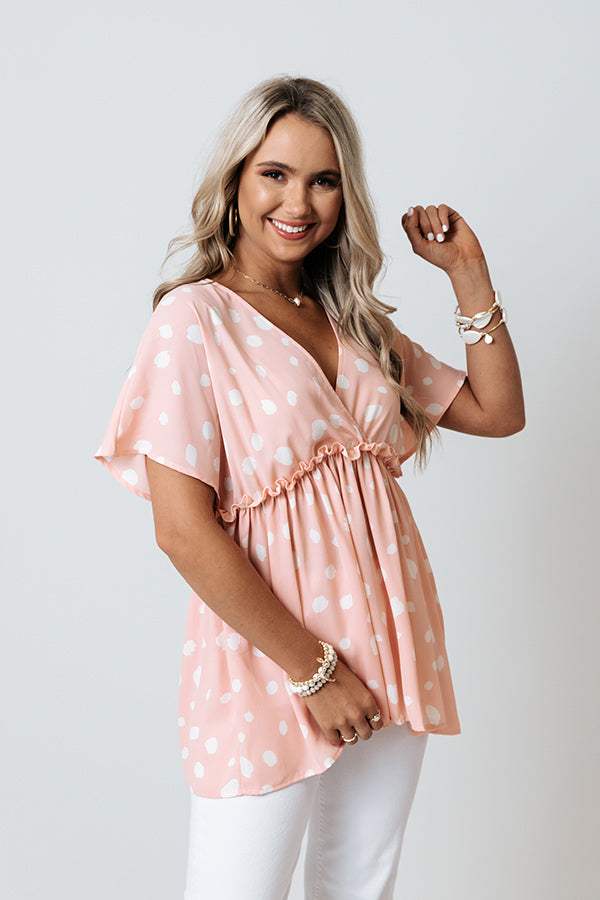 Confetti Confessions Babydoll Top In Pink