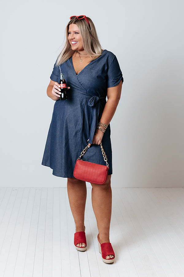 Wrapped In Forever Chambray Dress
