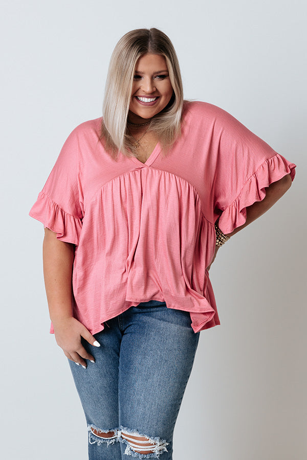 Dance It Out Babydoll Top In Pink
