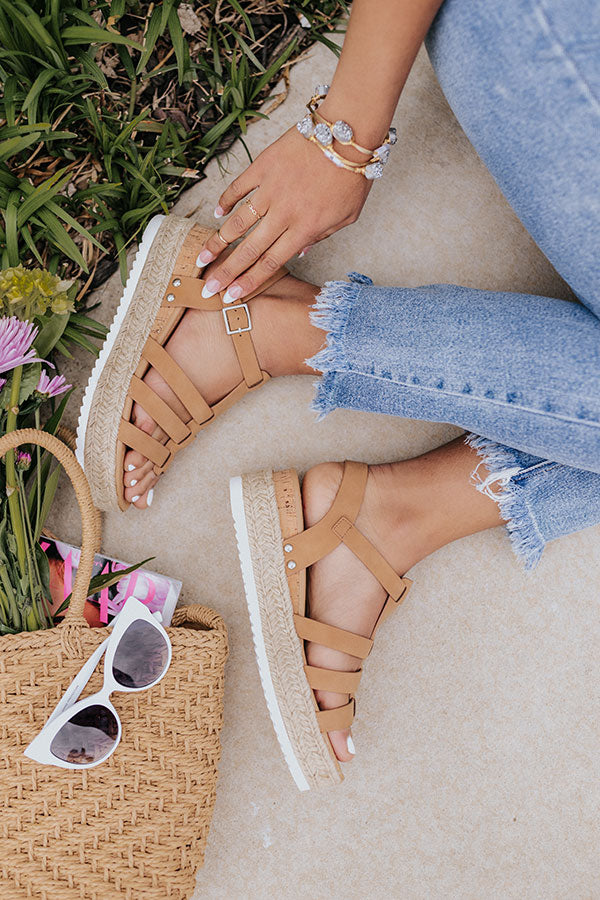The Harlee Nubuck Espadrille In Iced Mocha