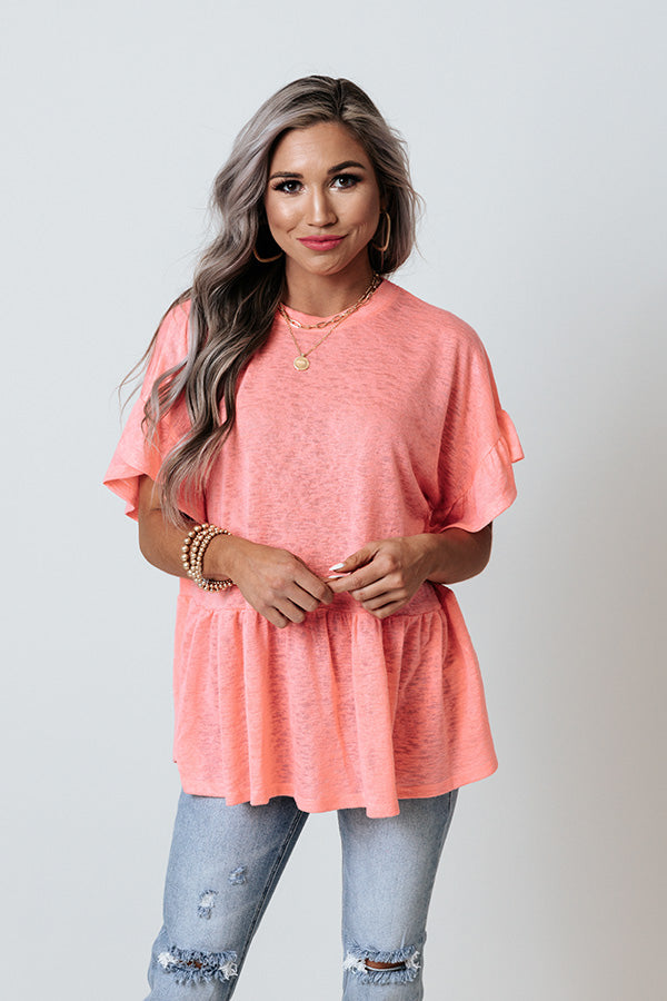 Spring Stories Shift Top In Pink