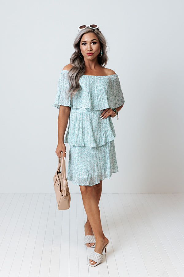 Marco Island Tiered Dress In Island Paradise
