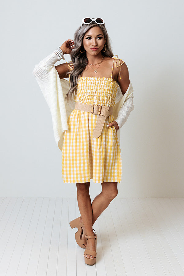 Waterloo Gingham Dress In Yellow