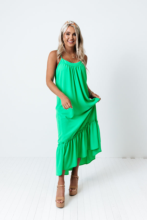 Villa Babe Midi In Kelly Green