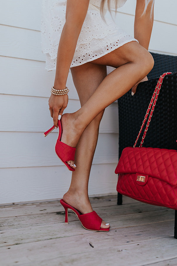 The Nirvana Faux Leather Heel In Red