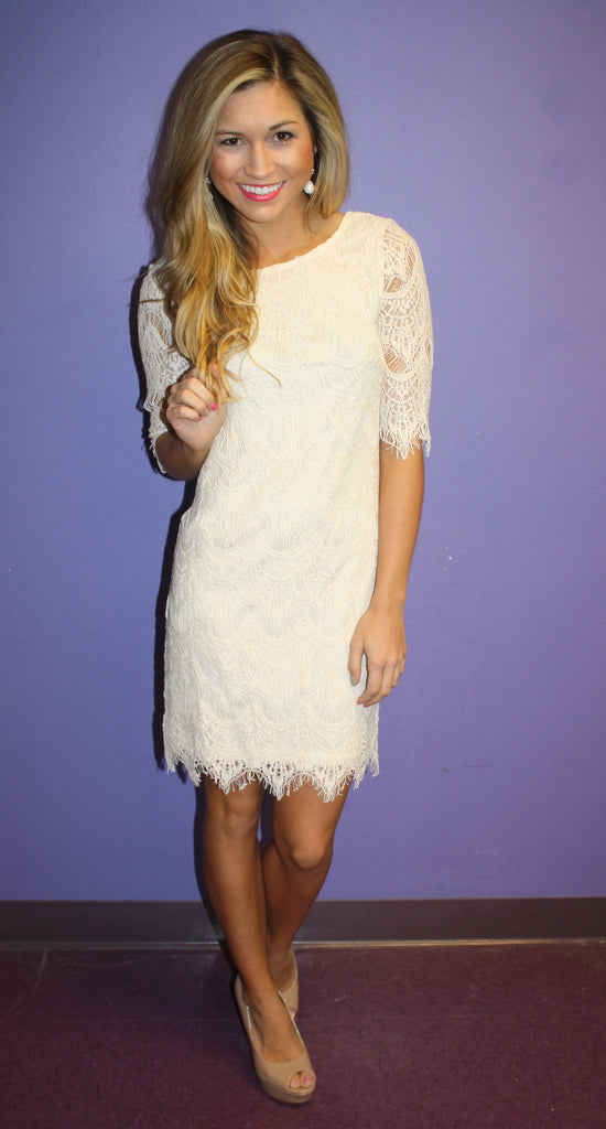 Blushing in Lace Ivory