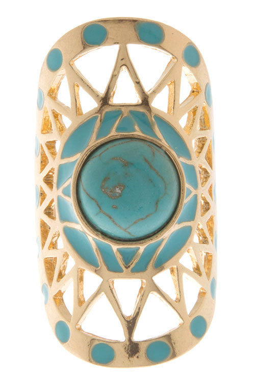 Girl's Road Trip Ring in Turquoise