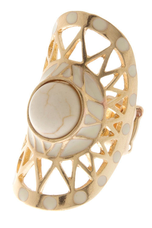 Girl's Road Trip Ring in Ivory
