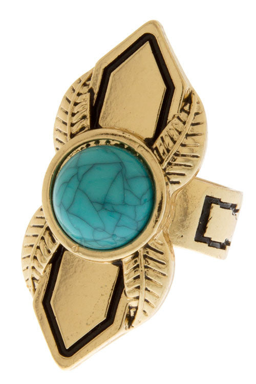 Festival Sweetheart Ring in Turquoise