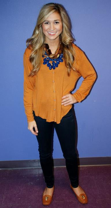 Perfect Pumpkin Cardi