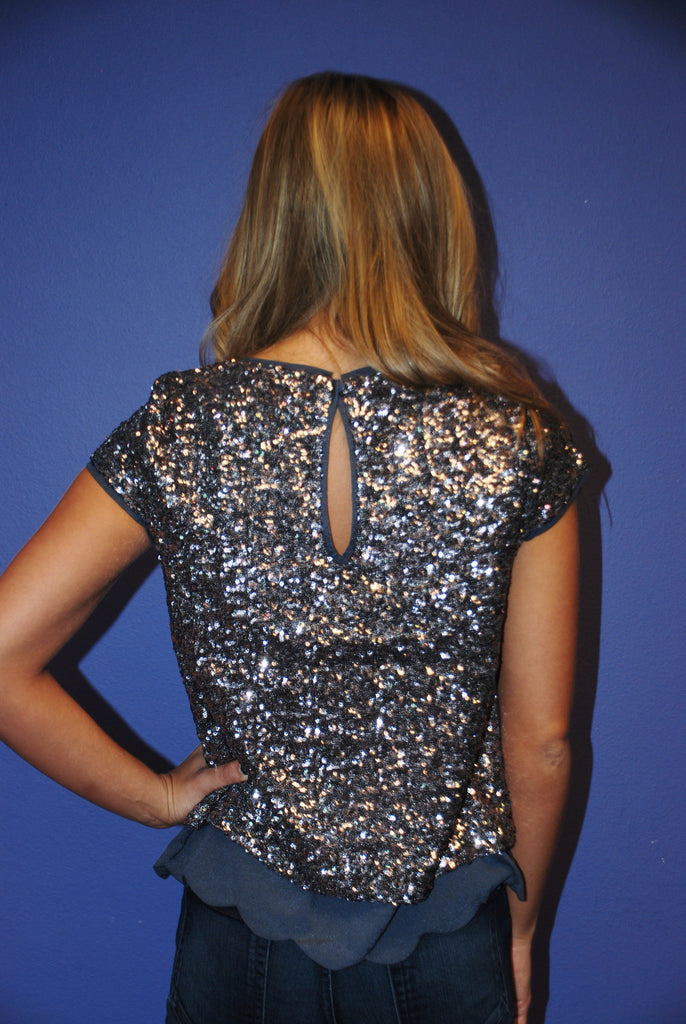 5th Avenue Sequins Steel Blue