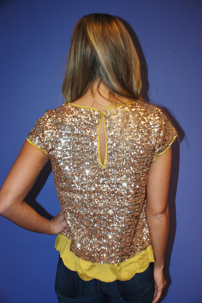 5th Avenue Sequins Gold