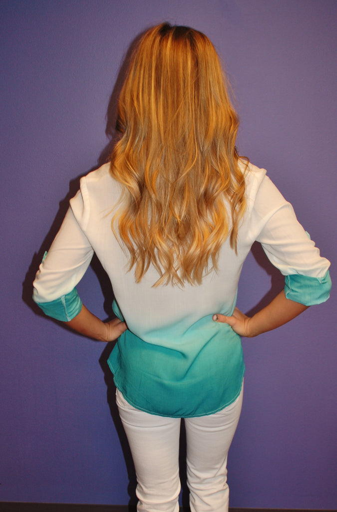 Ocean Breeze Ombre Teal