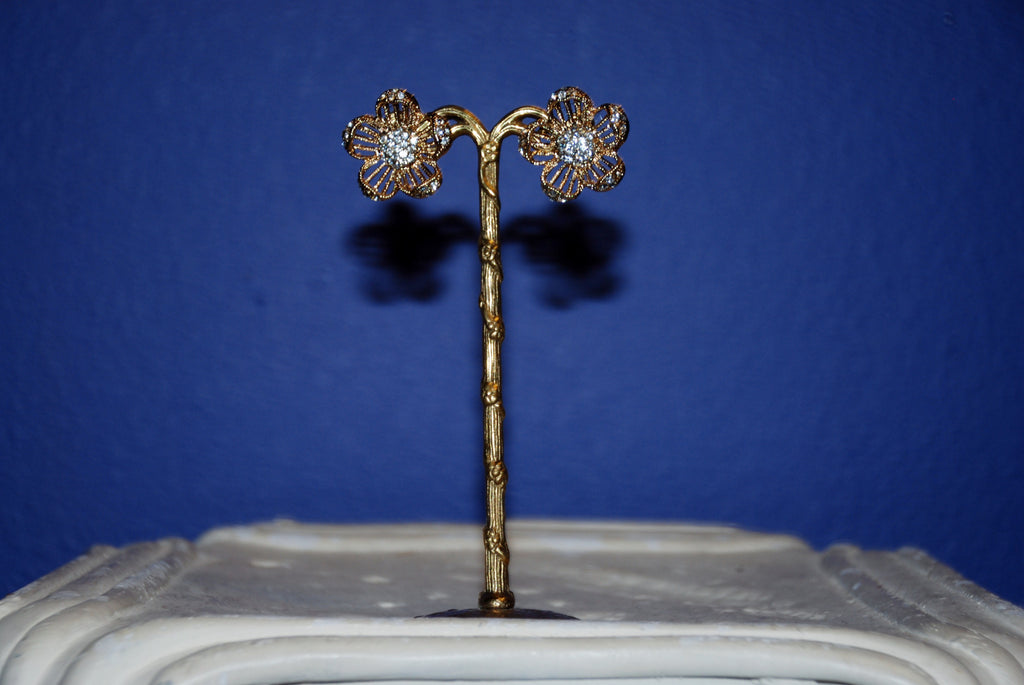 Glitz Flower Earring
