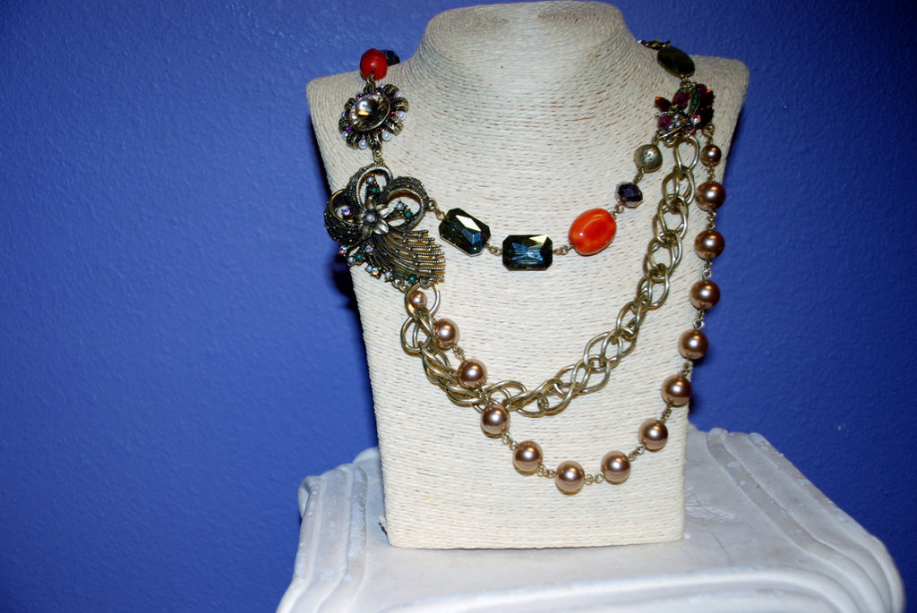 Long Jeweled Necklace