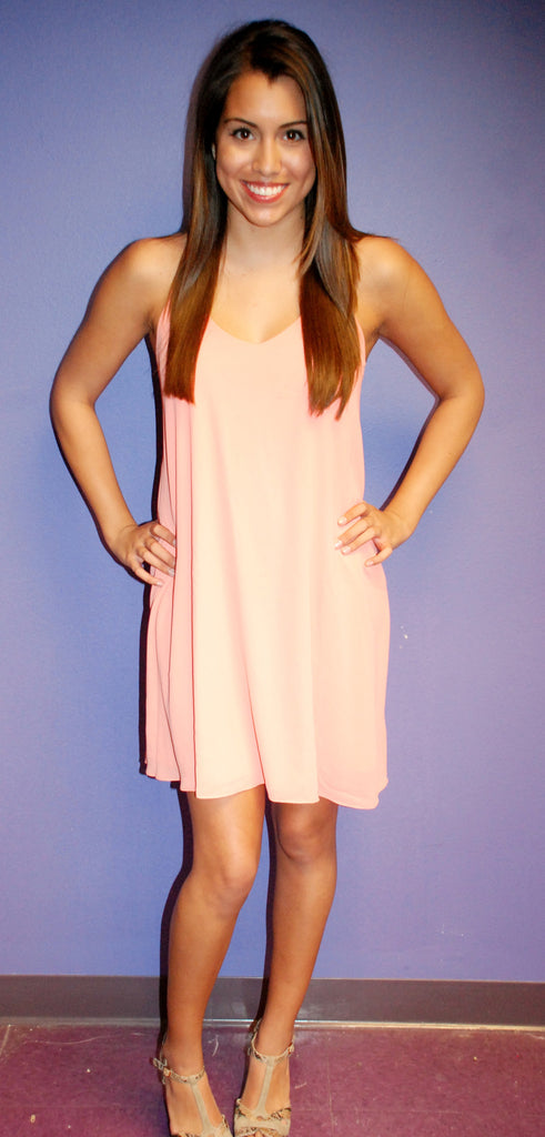Swing Dance Coral Dress