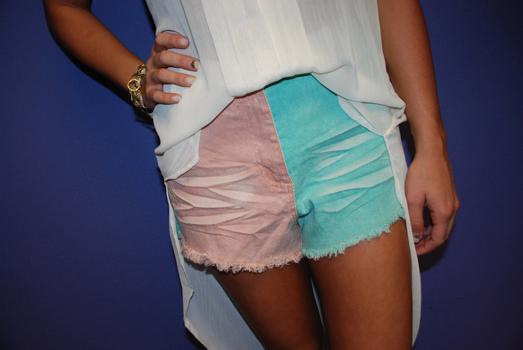 Spring Color Block Short