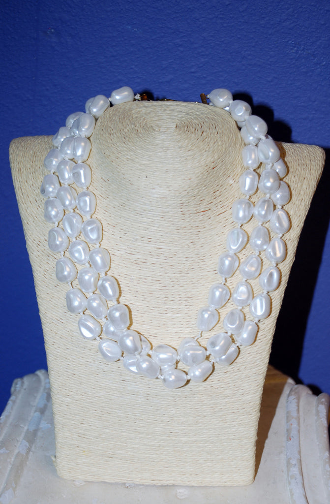 Three Strands of Pearls Necklace