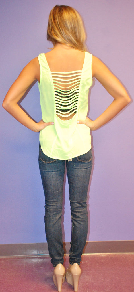 Summer Love Tank in Lime