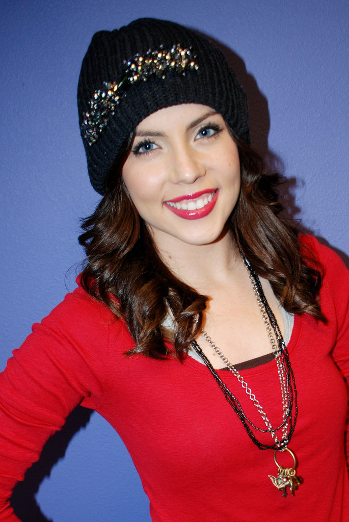 Beaded Bling Beanie