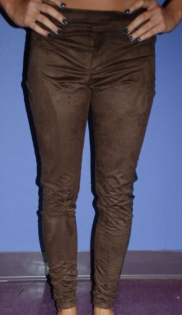 Brown Suede Legging