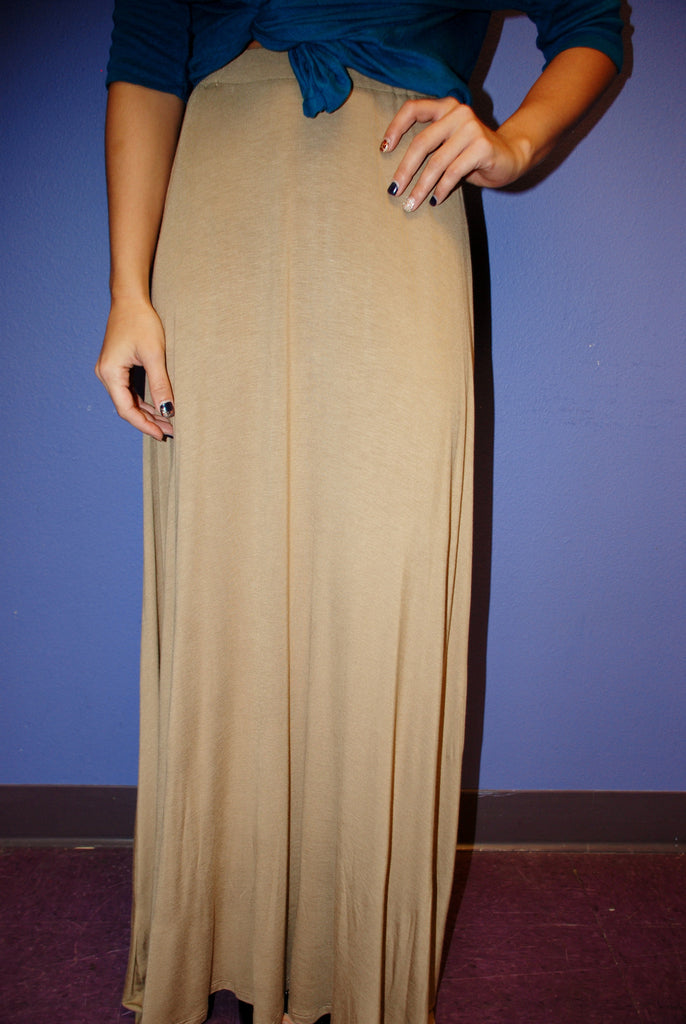Fall Maxi Skirt Taupe