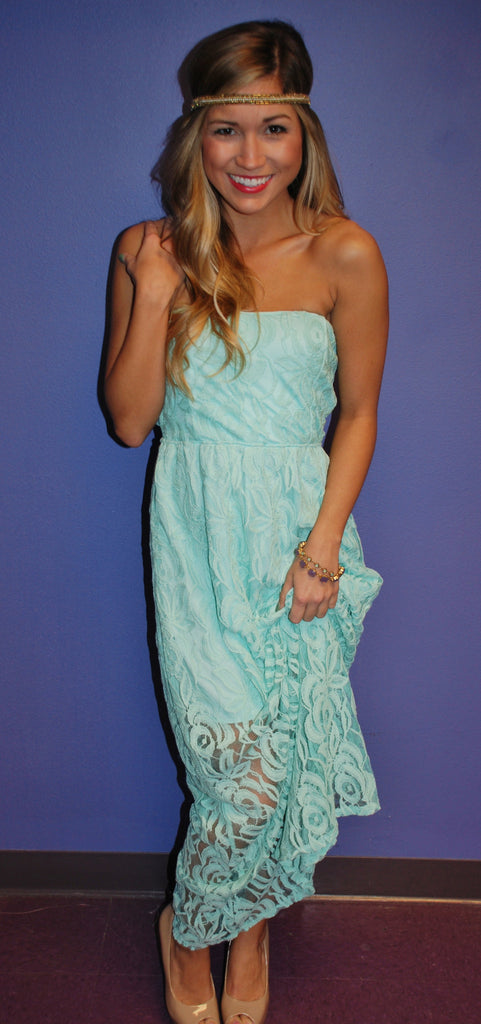 Lace Grace Maxi Mint