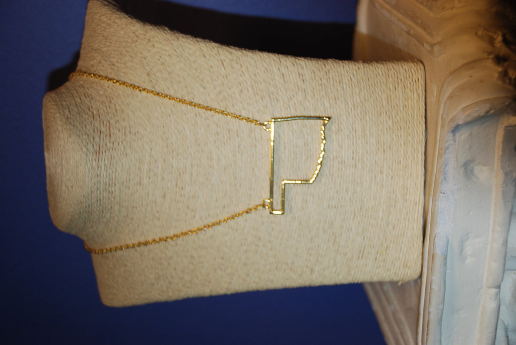 Large Oklahoma Gold Necklace
