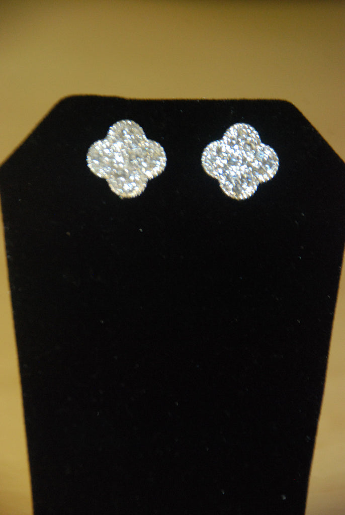 Crystal Clover Earrings