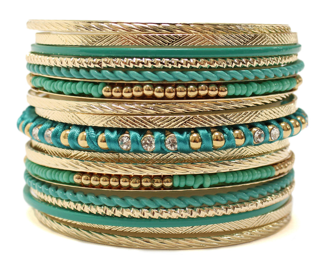 Hollywood Hills Bangle Set in Turquoise