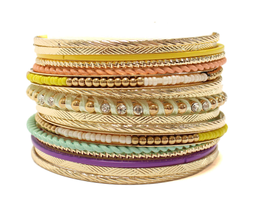 Hollywood Hills Bangle Set in Yellow