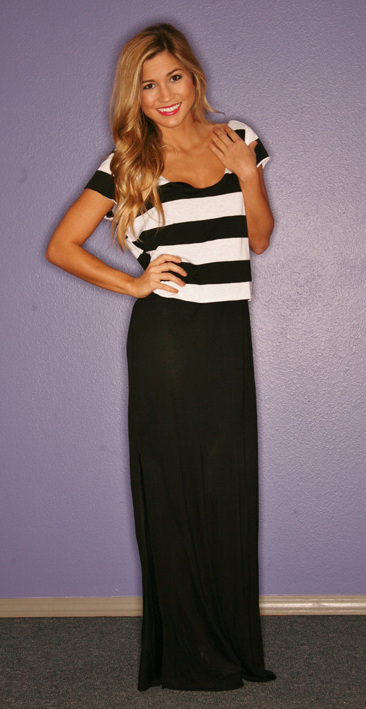 Miami Stripe Maxi in Black