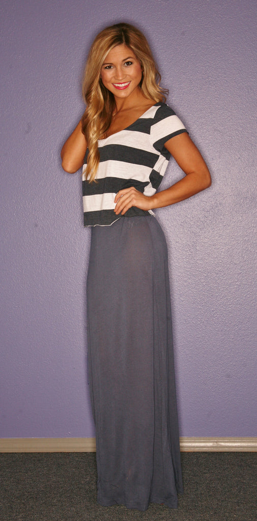 Miami Stripe Maxi in Navy