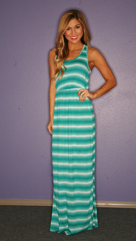 Salty Kisses Maxi in Turquoise