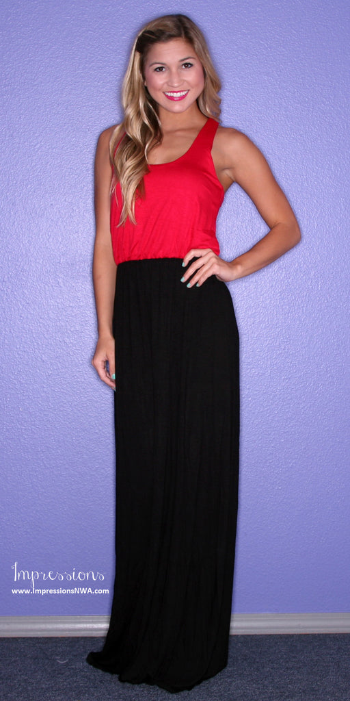 Southern Hostess Maxi Red/Black