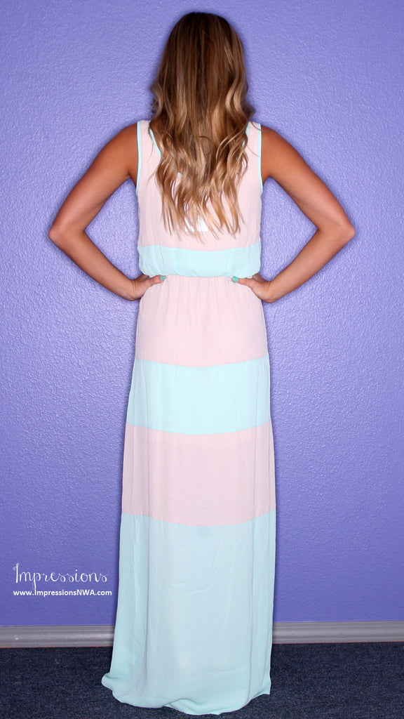 Beachy Stripe Maxi Taupe