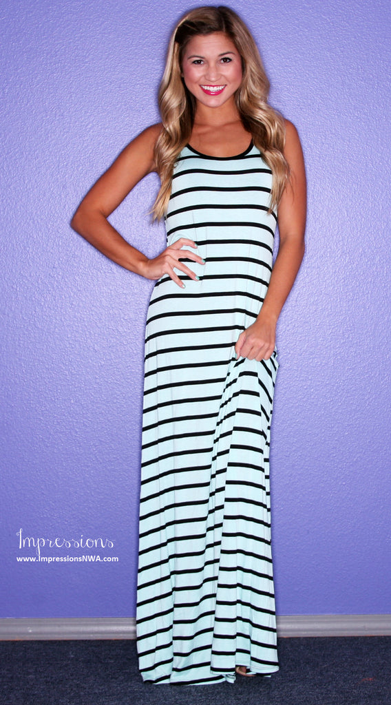 Party Time Stripe Maxi Mint