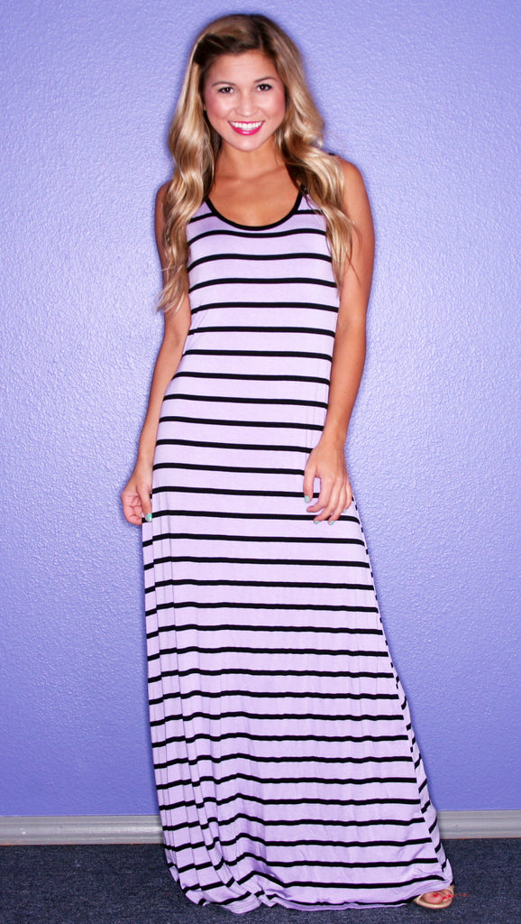 Party Time Stripe Maxi Lavender