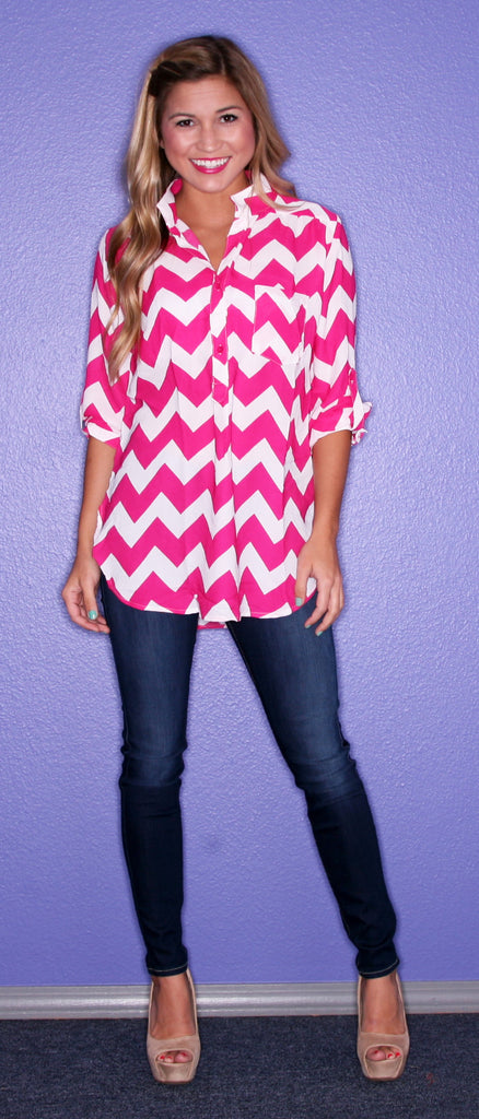 Uptown Stripe in Fuschia